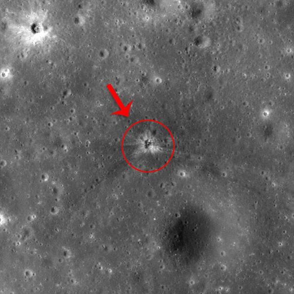 科学家发现失联火箭助推器碰撞的月球陨坑