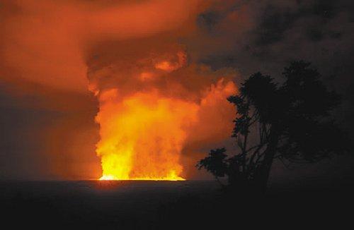 尼亚穆拉吉拉火山喷发