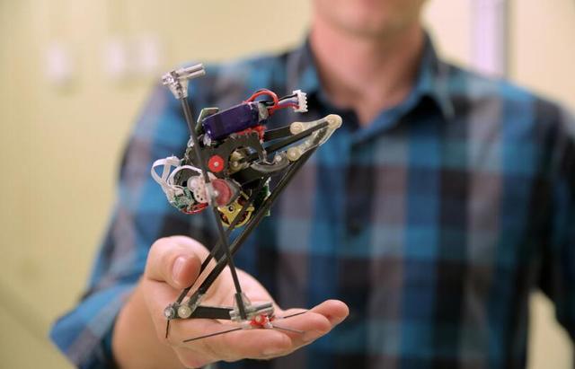 这个小小的机器人外形呆萌 弹跳能力绝对比你好