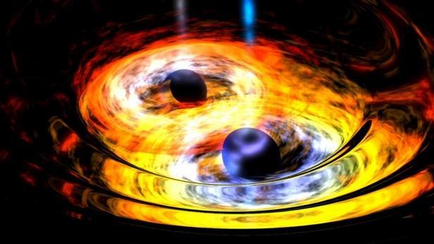 天文学家发现星系中的双黑洞