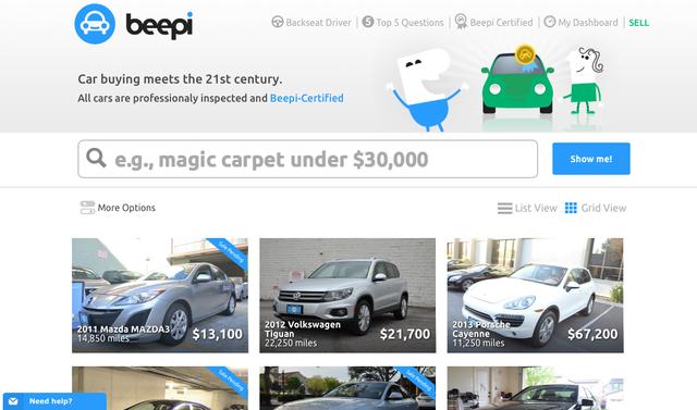 二手车P2P售卖平台Beepi融资6000万美元