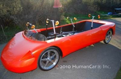 英研制新型人力混合汽车 时速可达96公里(图)
