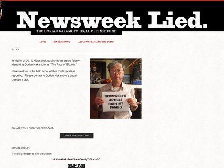 """""""比特币之父""""要起诉新闻周刊说谎"""