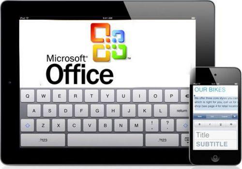 传微软上半年推iPad版Office 先于Windows 8版