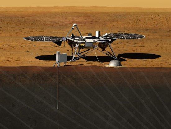 美国宇航局2016发射飞船前往火星进行钻探