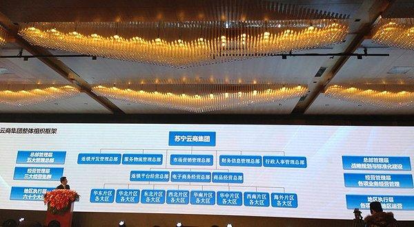 苏宁架构调整:成立五大管理总部和三大经营集群