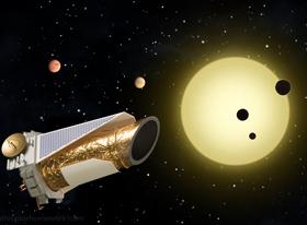 """美国宇航局的""""开普勒""""望远镜就是利用系外行星凌日(主星)的方法发现系外行星的"""