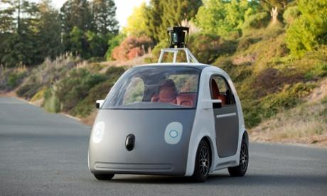 谷歌新款无人驾驶汽车原型高清图片