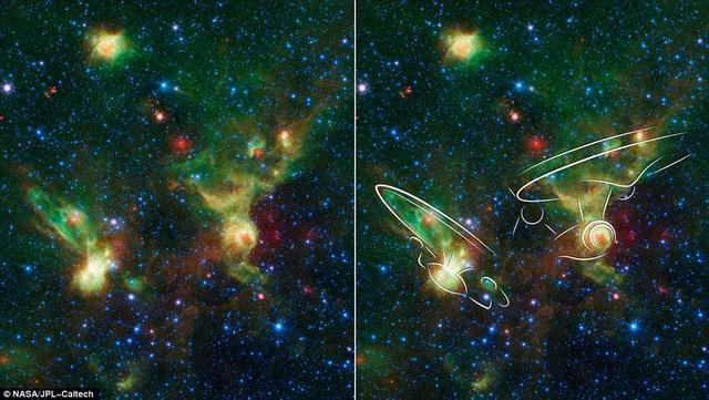 NASA望远镜拍摄到外星飞船来袭?其实是美丽星云
