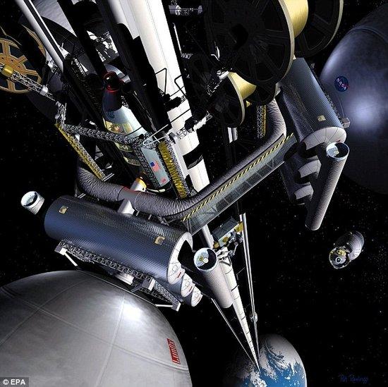 日本拟40年内建造太空电梯 一次可载30名游客