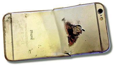 iPhone 6弯曲起火烧伤用户大腿