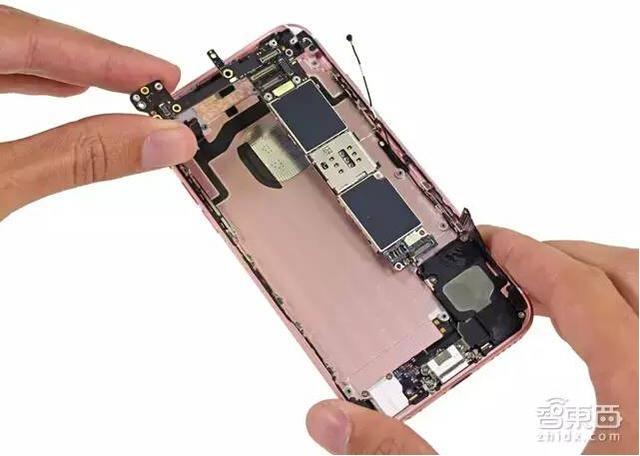 ① 红色部分:苹果全新的a9处理器及三星lpddr4 2gb内存; ② 橙色部分