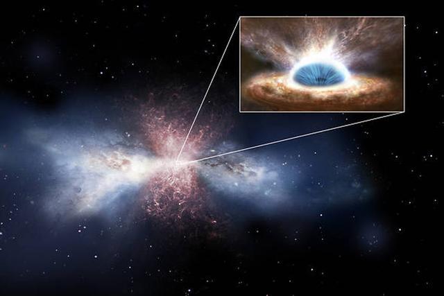 天文学家发现23亿光年外巨黑洞扼杀恒星形成