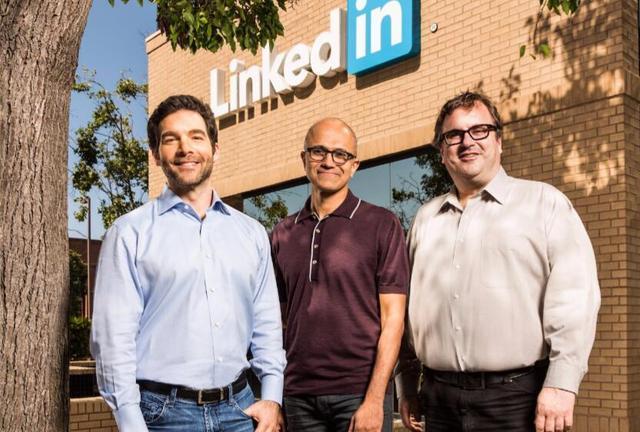 微软完成收购LinkedIn 纳德拉阐述整合计划