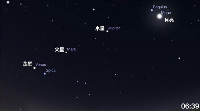 """""""三星会月"""":12月4日至8日晨媲美争辉"""