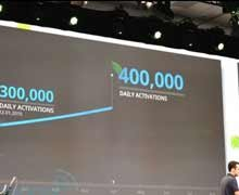 Android 产品总监走上舞台分享数据