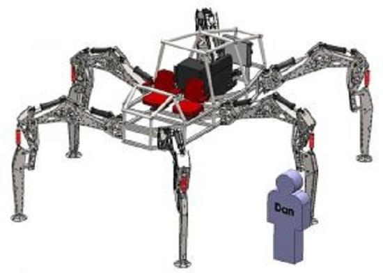 19岁学生造可骑乘机器人 犹如六腿钢铁怪兽