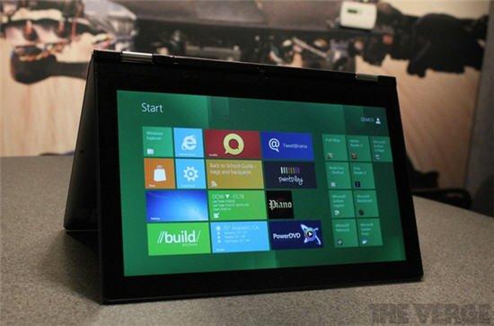 传联想计划率先推出首款Windows 8平板电脑