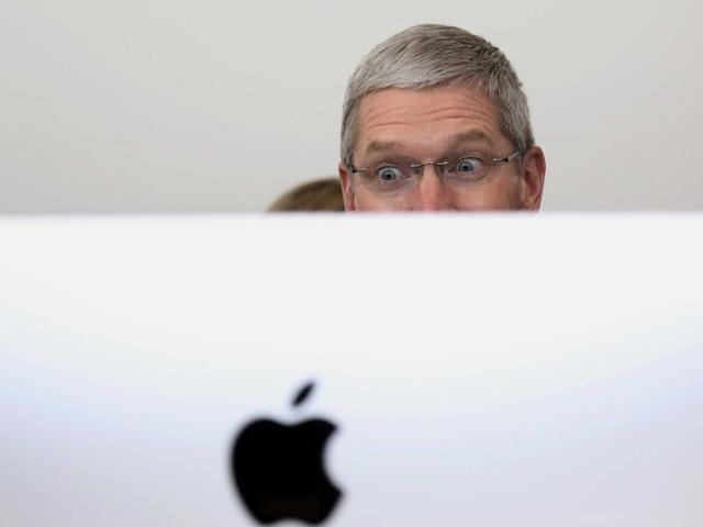 明天不过了 看苹果疯狂回购股票
