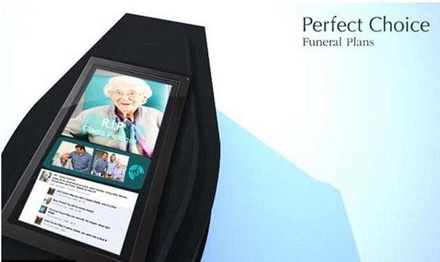英国公司研制智能棺材 可与亲朋好友分享唁电