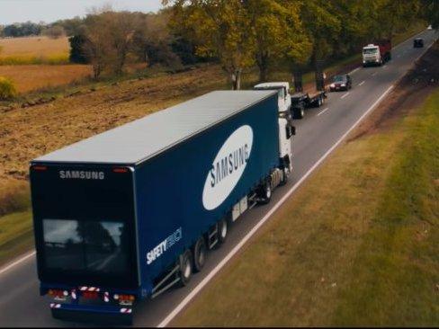 """三星测试""""安全卡车"""" 或改变人们驾驶方式"""