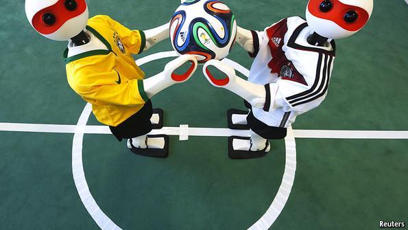 经济学人:2050年机器人有望在足球场上击败人类