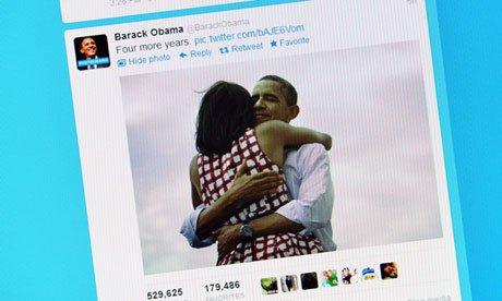 奥巴马夫妇相拥照片创转播次数最多之最