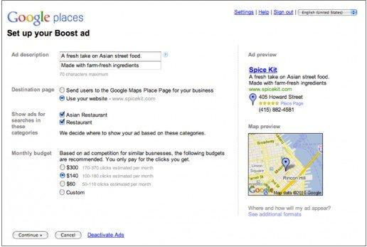 谷歌推出本地商家广告服务Boost