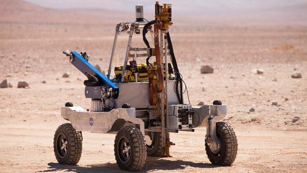 NASA在智利阿塔卡马沙漠测试寻找火星生命迹象的探测器