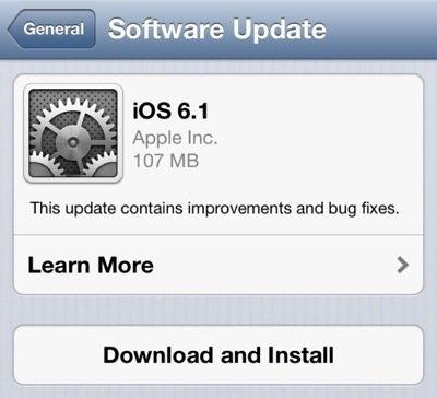 苹果iOS 6.1导致部分用户3G、电池问题