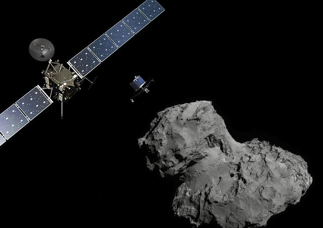欧空局称罗塞塔号任务将在9月底结束 准备登陆67P彗星