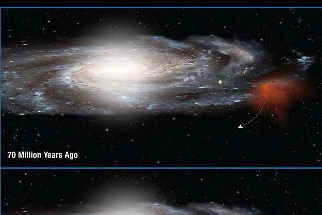 一团巨大的气体云3000万年后撞上银河系