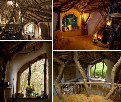英男子徒手造房屋 似《魔戒》霍比特住宅(图)