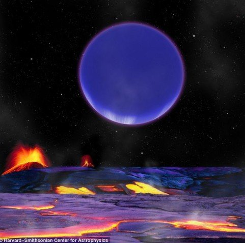"""天文学家发现""""熔岩星球"""" 表面流淌恐怖热液"""