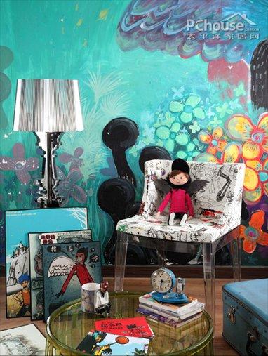 单色墙面神速搭配法 玩转蓝绿纯色调图片