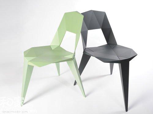 逼真折纸座椅 -撷取折纸灵感 12件 纸感 创意家品 组图图片