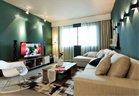 高清:绿色北欧风格 110平米的温馨浪漫三居室