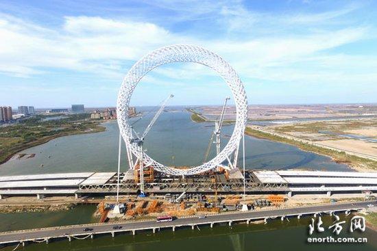津承建世界最大无轴式摩天轮