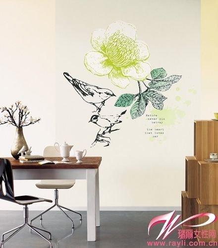 创意主题手绘墙 简单铸就年轻个性(组图)
