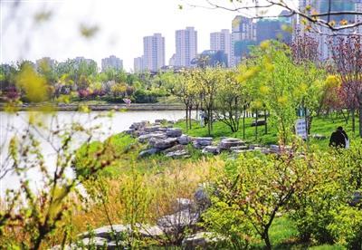 梅江公园一期改造工程开始收尾 部分区域对外开放