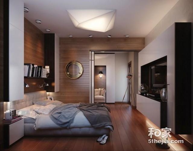 [摘要]男性化的个性公寓设计。以船舱为元素,以冒险的大航海为主题,在一个帆布床上,拥有一个游艇上的波动作射击,航行到梦乡。 男性化的个性公寓设计。以船舱为元素,以冒险的大航海为主题~在一个帆布床上,拥有一个游艇上的波动作射击,航行到梦乡。木包墙给予房间温馨大气的感觉,一个舒适的机舱的感觉,迎合现代家居室内设计潮流。