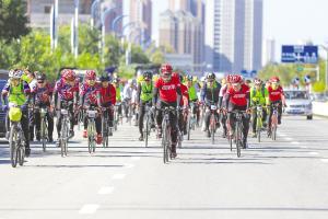 静海区环团泊湖自行车赛成功举行