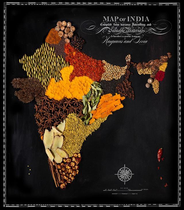 美摄影师打造精美世界食物地图