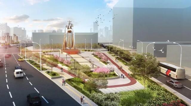 河西危改广场和周边道路要改造了 效果图公布