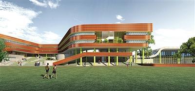 """生态城南开小学设计方案公布 突出""""学园""""风格"""