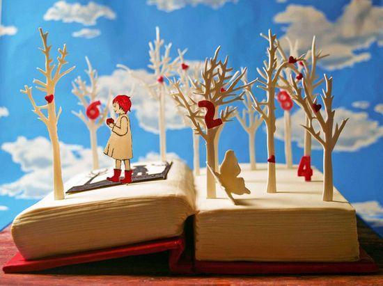 """创意""""书本蛋糕"""" 讨厌读书就啃了它们吧!"""