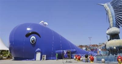 """""""大蓝鲸""""亮相天津海昌极地海洋公园"""