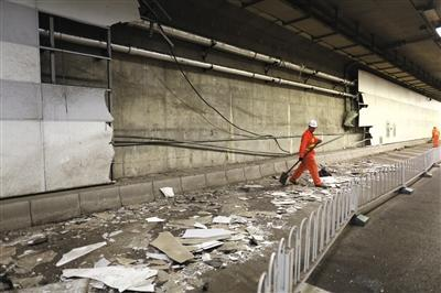 兰博基尼出车祸   ~在北京一路跟拍车祸后的兰博基尼   隧高清图片