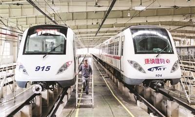 """今日首辆津滨轻轨""""新车""""上线"""