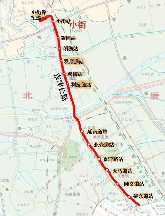 地铁4号线在北辰设12个站,具体位置出来了_大燕网天津